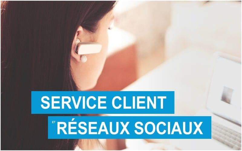 Service clients et médias sociaux